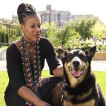 Majora Carter with her dog Xena (Photo credit: CNN)