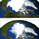 Dwindling Arctic Sea Ice; image via earthobservatory.nasa.gov