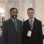 Jed Wolf (R) with Dr. R.K. Pachauri (L), general director of TERI and the chairperson of the IPCC