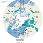 Artic ice extent and natural resource deposits; image via worldculturepictorial.com