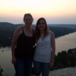 My supervisor, Elena Craft PhD, and myself on top of Mt. Borrnell, in Austin TX
