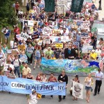 Protestas contra fracking en Albany, New York. Foto: 350.org