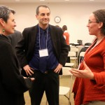 Bard Center for Environmental Policy director Eban Goodstein talks with Helena Kolenda, the Luce Foundation program director for Asia, and Robyn Smyth, science professor at CEP