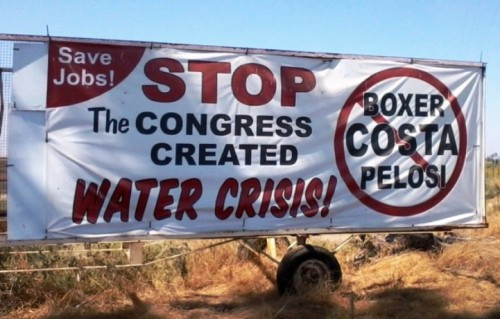Water is a VERY political issue.