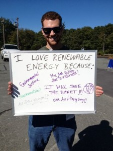 Gloucester residents express their love of clean energy