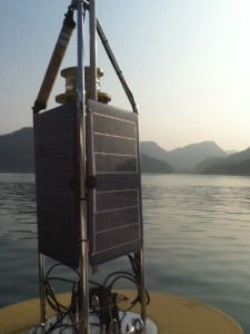 This buoy collects data that can used for environmental forecasting.