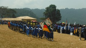 Ekambeng primary school children marching on Youth Day, Feb. 11th, 2014