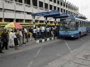 Crowds wait in line to board BRT. Photo Credit: e-Purse Systems Limited.
