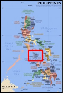 Complements of Google, this is the location of my town, Sebaste, Antique, amongst all the Philippine islands.