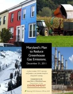 Maryland's 2011 Climate Action Plan. The update will be published by the end of 2015. Credit: MD Department of the Environment.