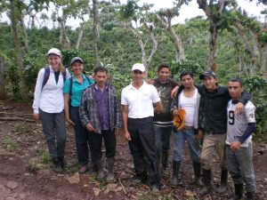 My team of hardworking technicians from Humidtropics and local NGOs took a break from data collection to pose for a picture with a farmer who participated in our study.