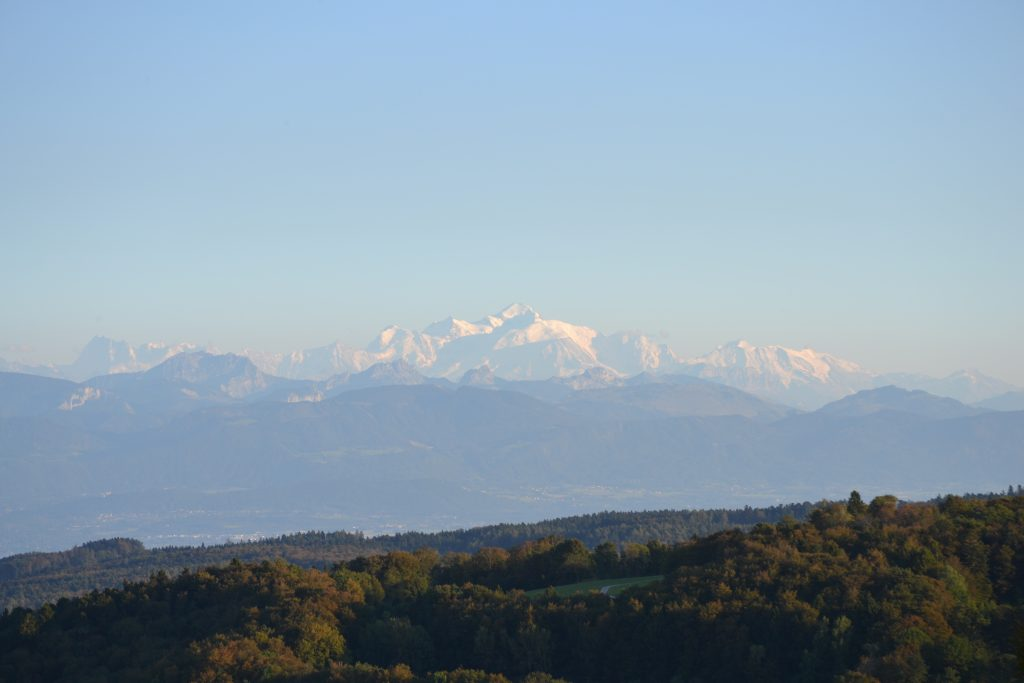 The amazing view of Mont Blanc from outside my office