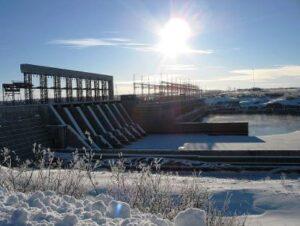 """Hydro-Quebec """"La Grande 1"""" Hydroelectric dam."""