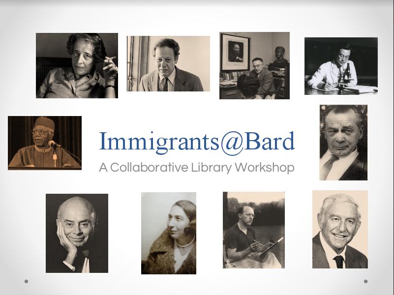 Immigrants@Bard item