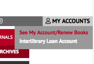Changes to Logging in to Renew Your Books item