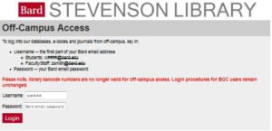 Off Campus Access to Library Databases item