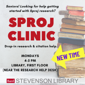 Sproj Clinic–New Day & Time! item